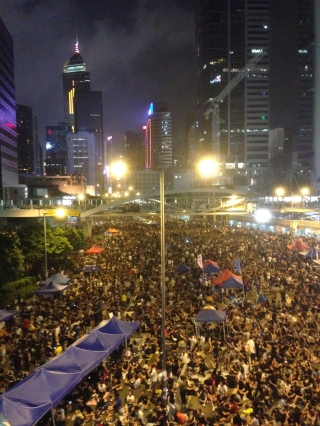 Protesters at the Admiralty